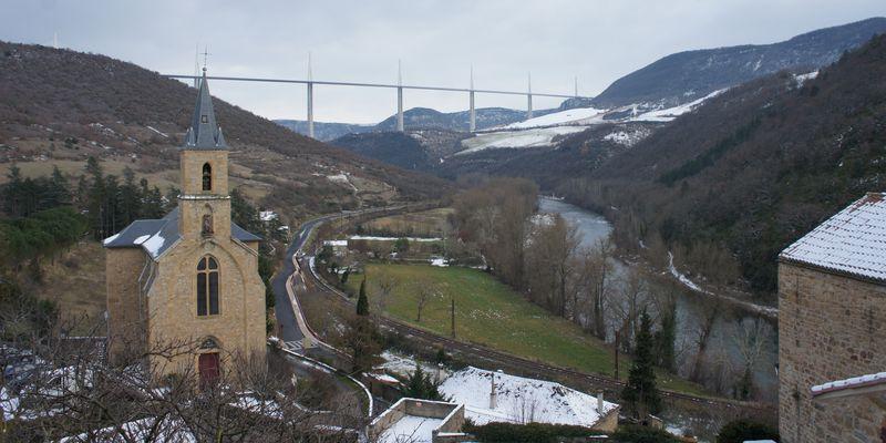 Viaduc de Millau vue de Peyre