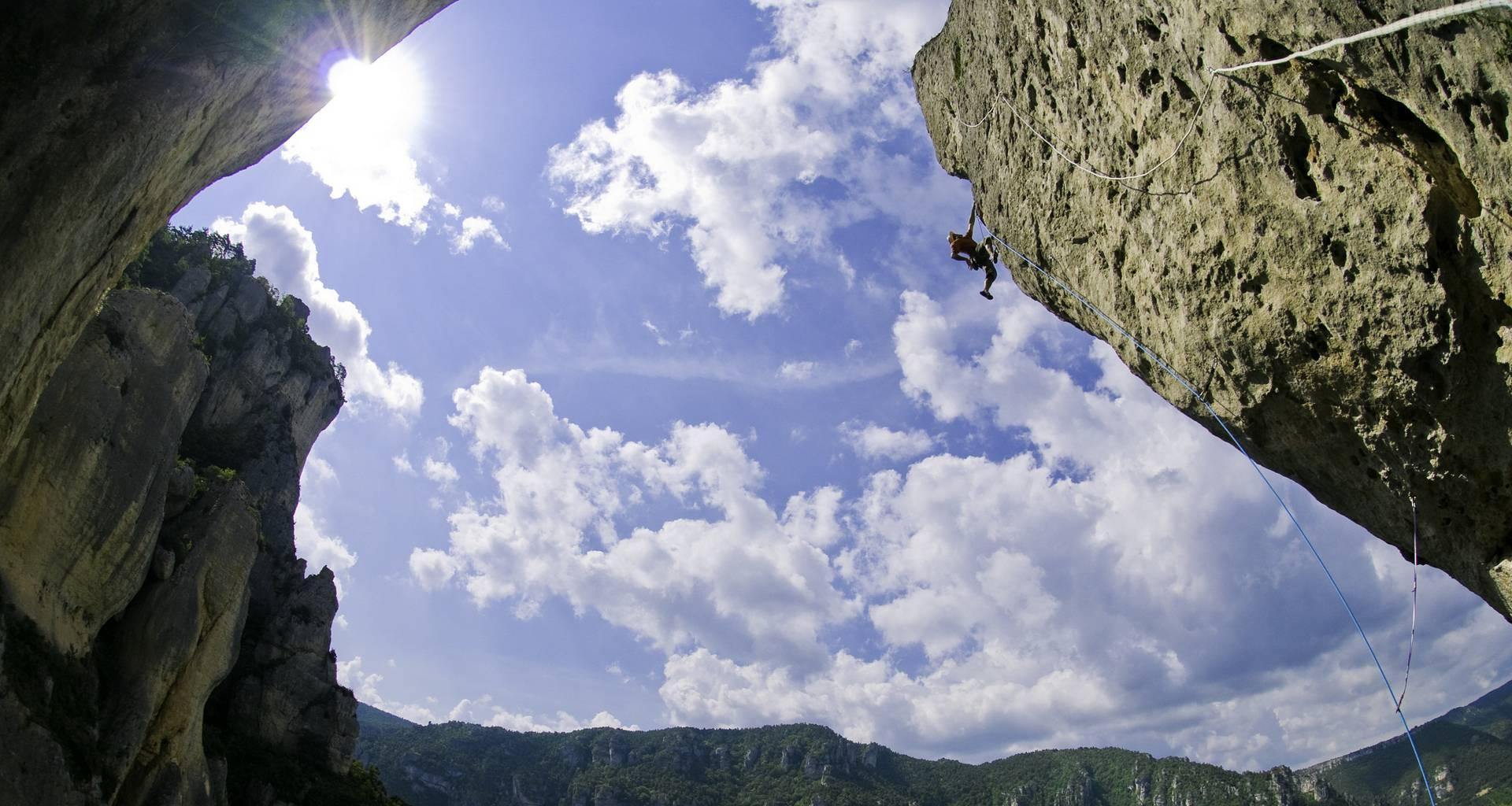 escalade gorges Tarn Dourbie