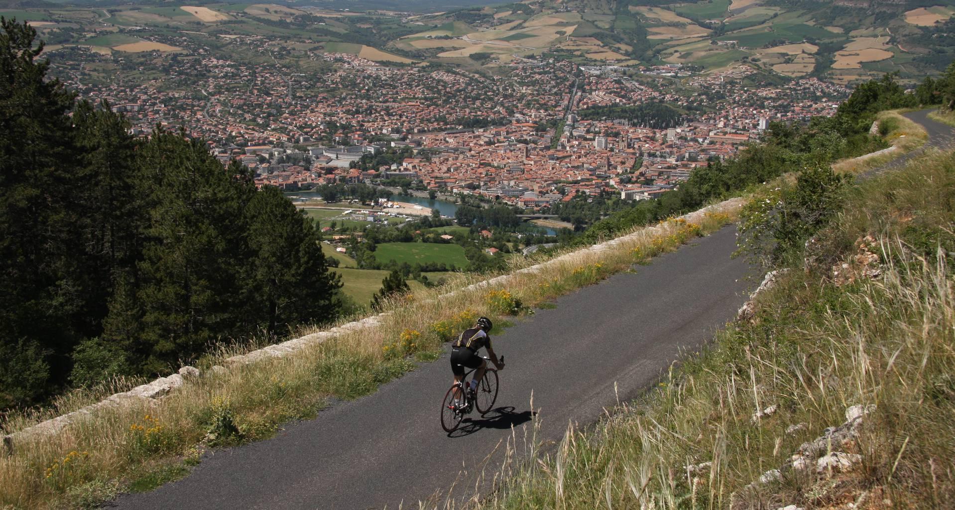 cyclo randonnée vélo route Millau